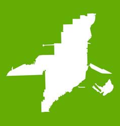 florida map icon green vector image vector image