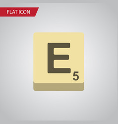 isolated game flat icon mahjong element vector image vector image
