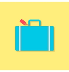 luggage flat icon travel conception vector image vector image