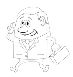 Businessman with suitcase vector image