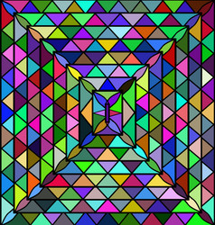 Colored background triangles vector
