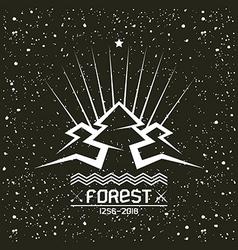 Pine forest emblem vector image vector image