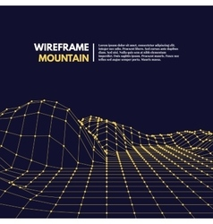 Wireframe mesh polygonal surface vector image vector image