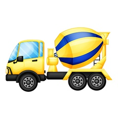 A yellow truck vector image vector image