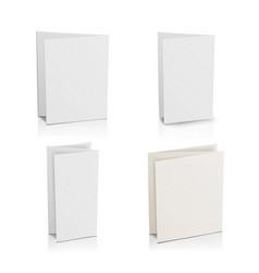 Blank folder white brochure set 3d mockup vector