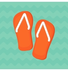 bright summe sneakers vector image vector image