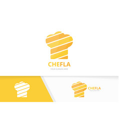 chef hat logo combination kitchen vector image