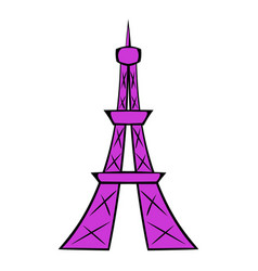 eiffel tower icon cartoon vector image