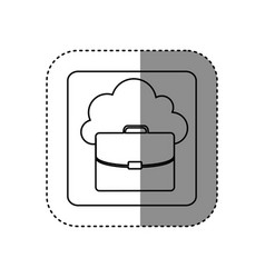 figure cloud suitcase network icon vector image
