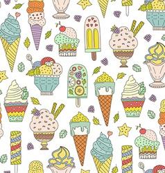 Ice Cream Pattern vector image vector image