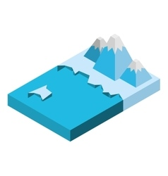 water isometric isolated icon vector image vector image