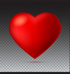 big red a scarlet heart isolated on transparent vector image vector image