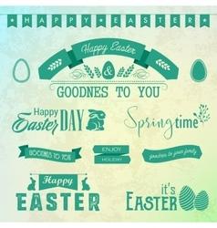 Happy Easter labels set vector image