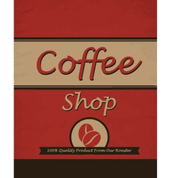 vintage template design for coffee shop vector image vector image