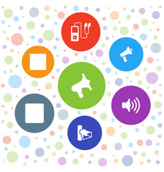 7 mp3 icons vector image