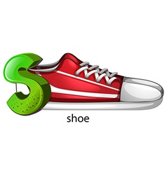 A letter S for shoe vector image