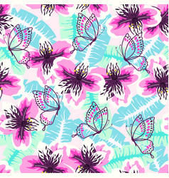 abstract turquoise pink pattern vector image