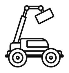 Agricultural lift machine icon outline style vector