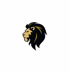 angry lion head logo sign flat design vector image
