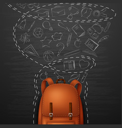 backpack and back to school background vector image