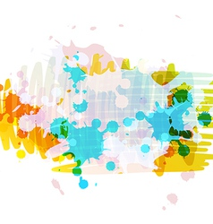 banner background design with ink splatter vector image