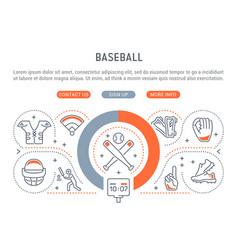 banner baseball vector image