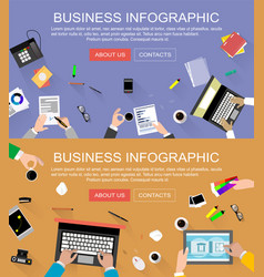 Banners with concepts of human resources vector