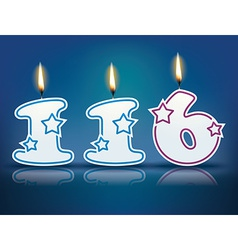 Birthday candle number 116 vector