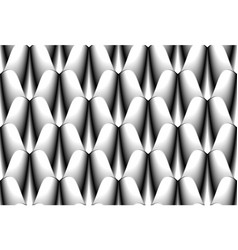Black and white abstract seamless pattern of vector