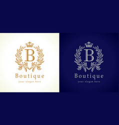 boutique logo concept vector image