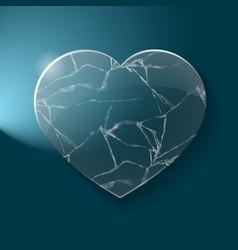 Broken heart made from glass vector image