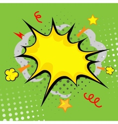 Cartoon bang cartoon - boom comic book explosion vector