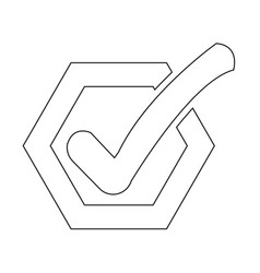 Check list button icon vector