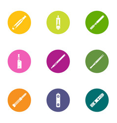 Cigarette icons set flat style vector