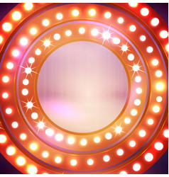Circle light bulbs vector