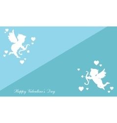 Collection greeting card valentine with cupid vector