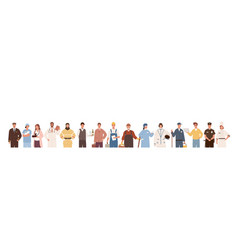 collection people different professions vector image