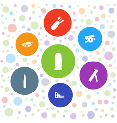 Conflict icons vector