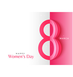 creative happy womens day background with origami vector image