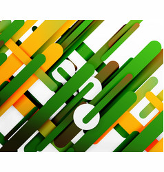 Cut 3d paper color straight lines abstract vector