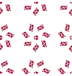 Danish flag flower seamless pattern vector