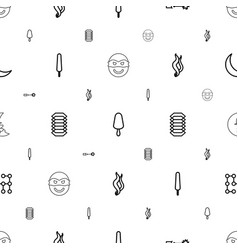 dark icons pattern seamless white background vector image