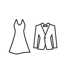 Dress and suit icon isolated vector