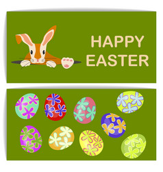 easter eggs and bunny vector image
