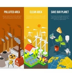 Eco Banner Concept vector image