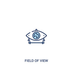 Field view concept 2 colored icon simple line vector