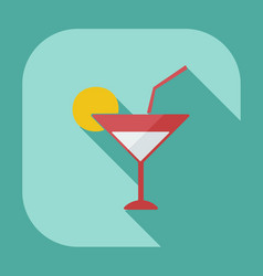 Flat modern design with shadow icons beverage vector