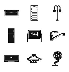Furnishing icons set simple style vector