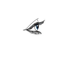 graphic eye vector image