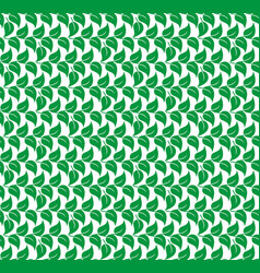 green leaves of trees and plants seamless pattern vector image
